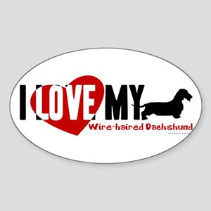 Dachshund [wire-haired] Sticker (Oval)